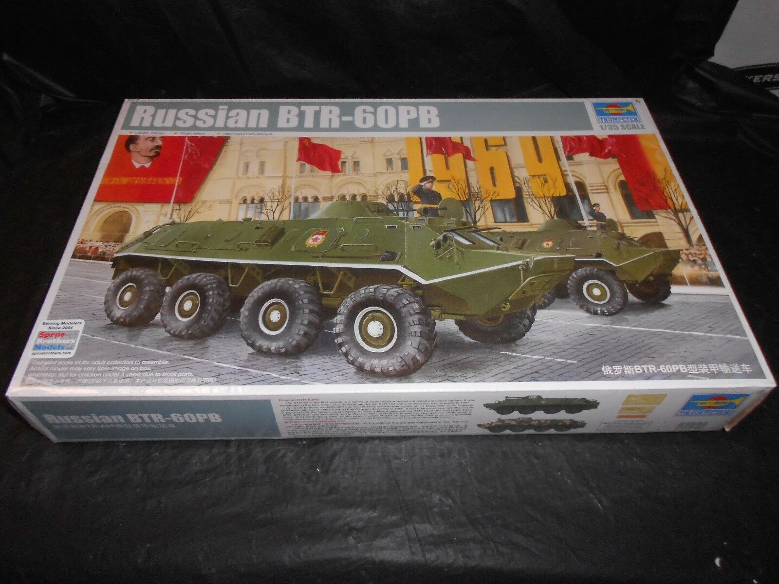 01544 Trumpeter 1 35 Model BTR-60PB APC Delivery Wagon Tank Vehicle Panzer Kit