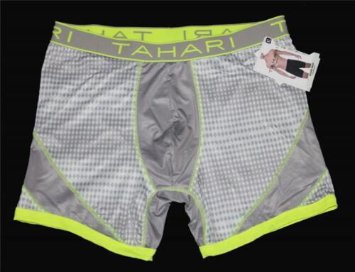TAHARI Performance Neon Green//Yellow Grey Diamonds Boxer Briefs Boxers Mns NWT