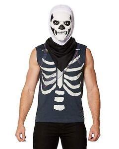 Fortnite Skull Trooper Teen Kit Halloween Costume Maskl In Hand