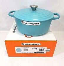 Le Creuset 5.5 Cast Iron Round Dutch Oven Quart French Riviera Matte Blue NEW
