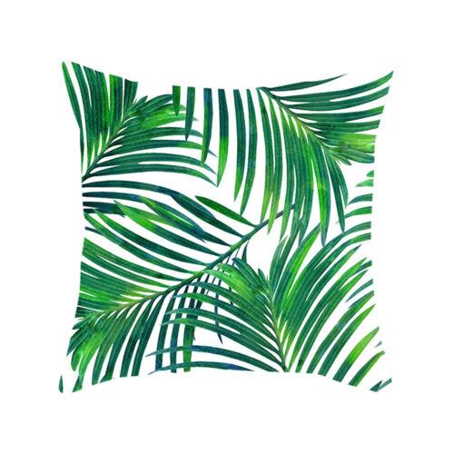 Tropical Plant Green Leaves Pillow Case Cushion Cover Car Home Sofa Decor 45X45