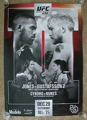 Near Mint Official UFC 204 Bisping vs Henderson 2 Poster 27x39