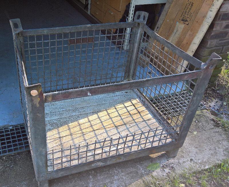 Large metal stackable cages / storage bins