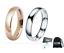 Coppia-Fedine-4mm-Acciaio-Oro-Rosa-Argento-semplici-incisione-int-fidanzamento miniatura 1