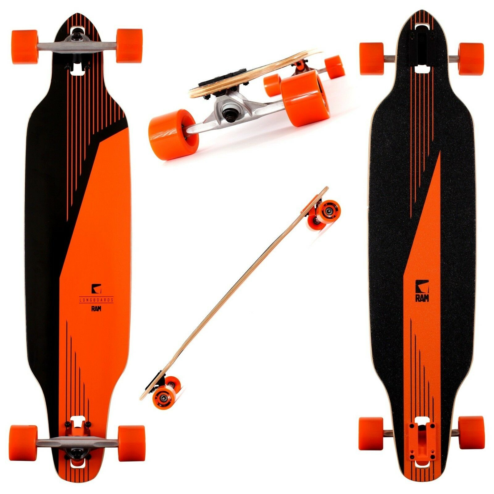 Longboard Ram Edition Orange Abec 9 Modell  Canadian maple S board