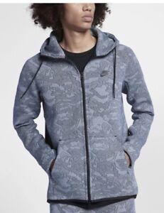 3485b33087f7 Image is loading Nike-Sportswear-Tech-Fleece-Full-Zip-Hoodie-Hydrogen-