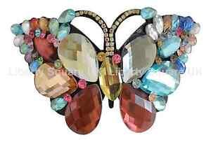 Fougueux Remarquable Coloré Papillon Cheveux Barrette Cheveux Mariage / Accessoires # 577-afficher Le Titre D'origine