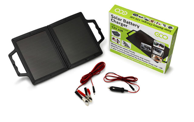 Eco Power Shop - 12V 4W Portable Folding Solar Panel Briefcase + 1 Yr Warranty