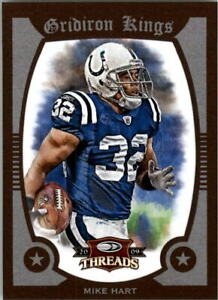 2009-Donruss-Threads-Pro-Gridiron-Kings-Framed-Red-38-Mike-Hart-100-NM-MT