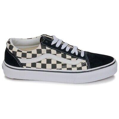 Scarpe da uomo donna Vans Old Skool VN0A38G1P0S1 nero scacchi sneakers sportiva | eBay