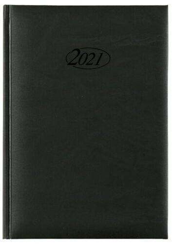 Chef Buchkalender 2021 - DIN A5 400 S Landkarte Feiertage Messen schwarz