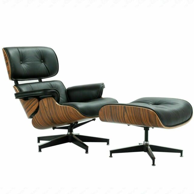 Peachy Mid Century Eames Lounge Chair Ottoman Genuine Rosewood Italian Leather Usa Bp Inzonedesignstudio Interior Chair Design Inzonedesignstudiocom