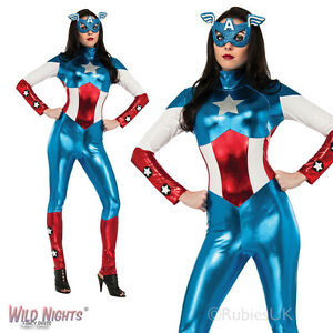 Image is loading LADIES-MISS-AMERICAN-DREAM-AVENGERS-MARVEL-CAPTAIN-AMERICA-  sc 1 st  eBay : captain america womens halloween costume  - Germanpascual.Com