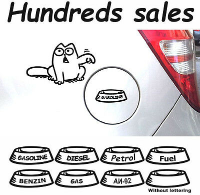 Simons Cat #1 Big Decals Stickers Fuel Tank Animals Graphics Vinyl A