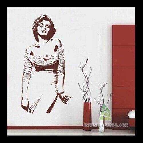 Pegatinas De Pared Marilyn Monroe Arte Murales calcomanías Árbol Flor Niño Vinilo de las decoraciones-D203