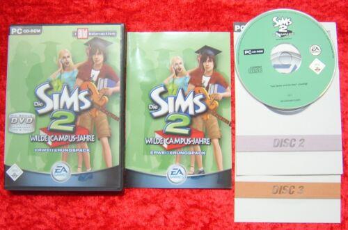 1 von 1 - Die Sims 2 Wilde-Campus-Jahre Erweiterungspack, original PC Spiel, wie Neu