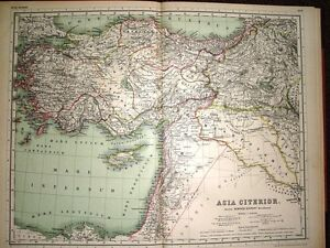 Reasonable 1892 Map ~ Asia Citerior ~ Nearer Asia ~ Mare Carpathium Lycium Internum Etc Sophisticated Technologies Asia Maps