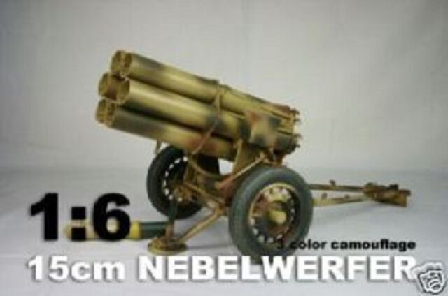 DID 1//6th Scale WWII Nebelwerfer Panzar Metal Construction in Yellow Color