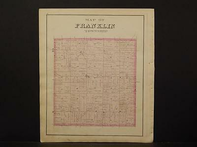Erie County Map 1876 Franklin Township N6#91 To Ensure Smooth Transmission United Pennsylvania
