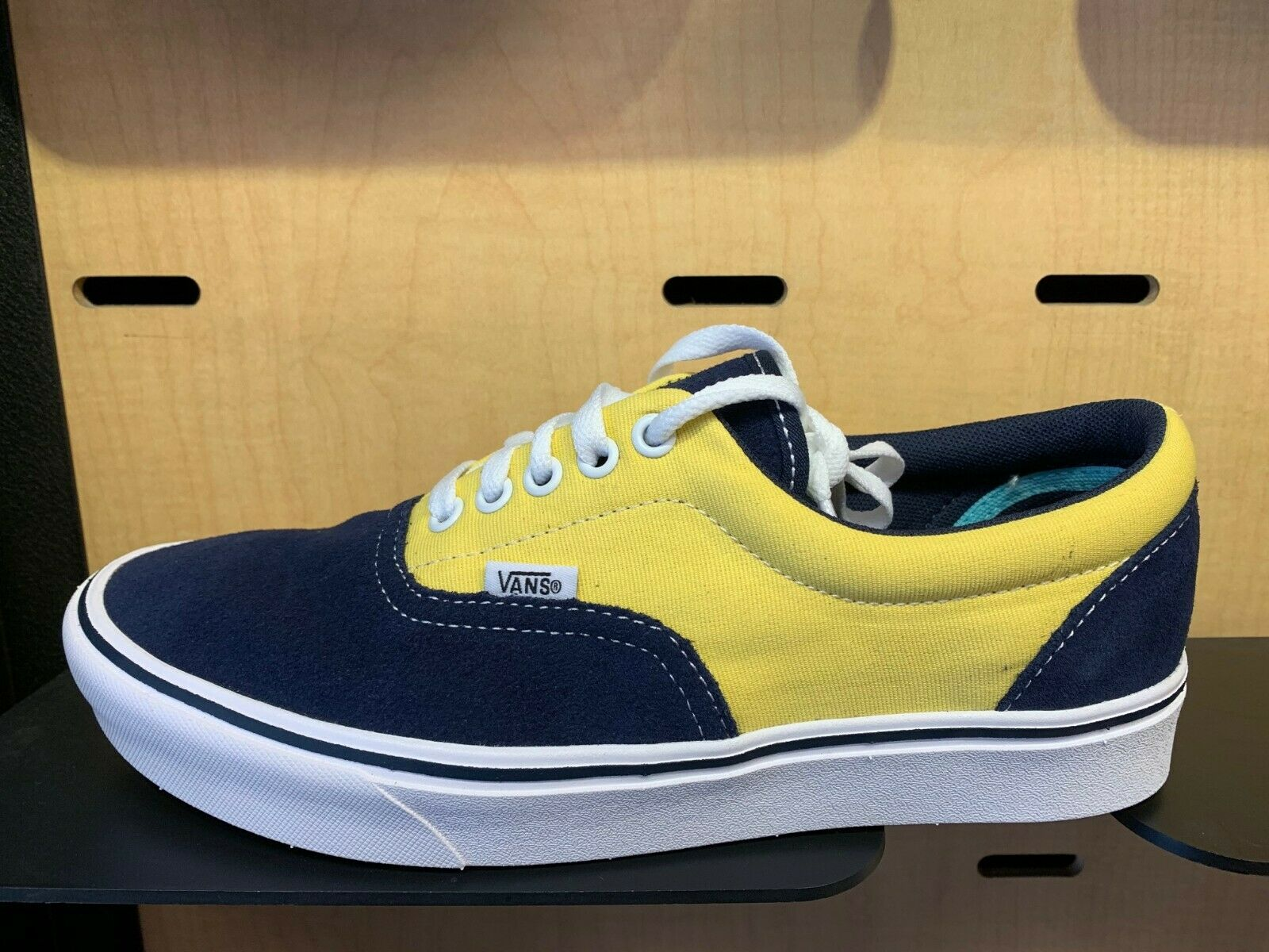 Vans Era Comfy Cush bluee Yellow White Canvas Size 8-13 New Authentic