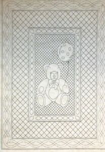 Teddy-Bear-Premarked-Wholecloth-Crib-Quilt-Kit-2-Colors-avail-36-034-x-50-034