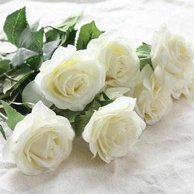 Artificial Rose Silk Flower Leaf Home Wedding Party Decor Bridal Floral Bouquet