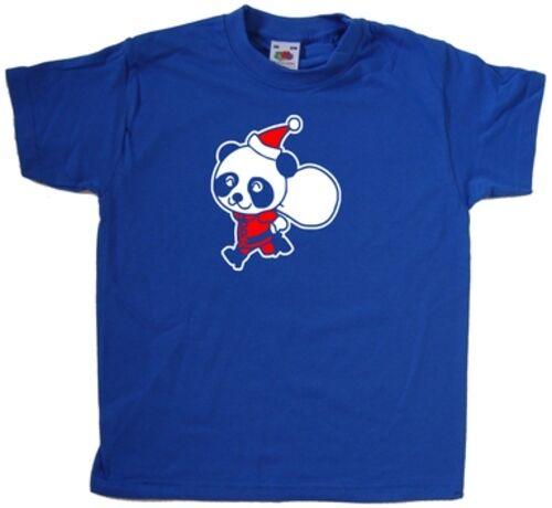 Santa Panda Christmas Kids T-Shirt