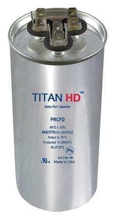 TITAN HD PRCFD8075A Motor Dual Run Cap,80//7.5 MFD,440V,Round