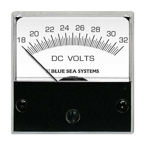 "Blue Sea Systems 8243 Dc Analog Micro Voltmeter 2/"" Face 18-32 Volts"