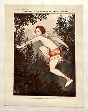 1920s Vie Parisienne French Magazine Page-- La Nymphe de Cross Country