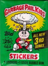GARBAGE PAIL KIDS SEALED WAX PACK 3 4 5 6 7 8 9 10 11 12 13 14 15 U PICK 1986-88