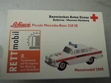 Schuco Piccolo mercedes benz 220 se colección 2008 limitado BRK cruz roja