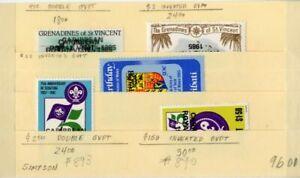 Grenada-Stamps-VF-OG-NH-5-Varieties-Inverts