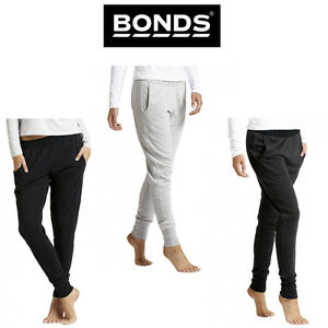 898ecace92 Details about Womens Bonds Basic Cuff Trackie Textured Logo Tracksuit Pants  Sports CZBMI