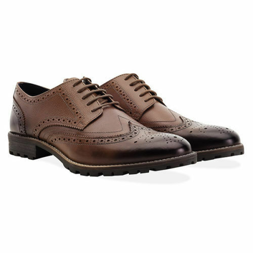 Redfoot Leather Tan Edenfield Derby Brogue Mens Lace up shoes UK 12