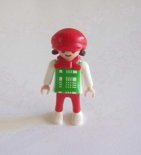 PLAYMOBIL Petite Fille Verte /& Rouge avec Casquette J347 EPOQUE 1900