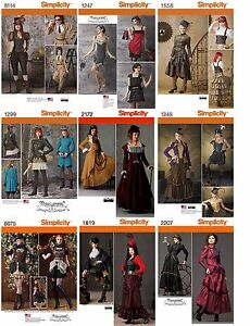 Simplicity-Sewing-Pattern-Misses-039-Chic-Costume-Steampunk-Victorian-Bustiers