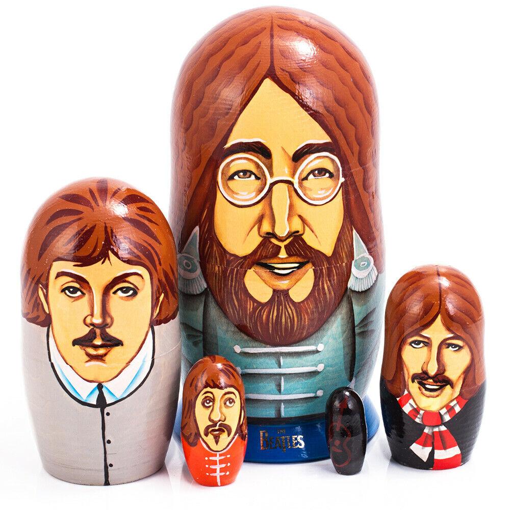The Beatles Nesting bambola Russian bambola Matryoshka 6    5 pcs