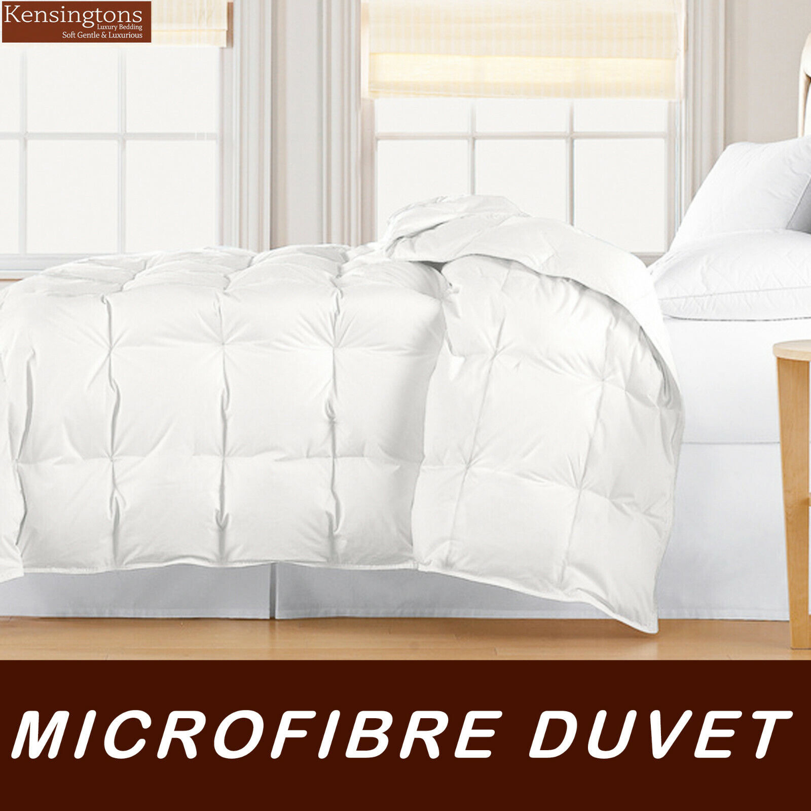 Kensingtons Microibre Feel Like Down Duvet Quilt King Bed in All Sizes and Togs