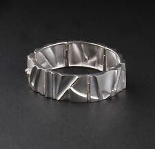 Modern LAPPONIA Sterling Silver Bracelet, Cataract. Björn Weckström. RARE! NEW!