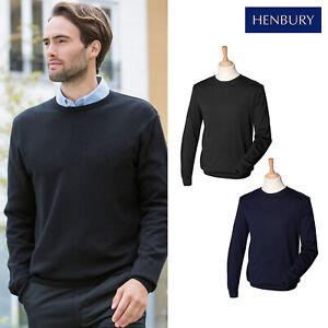 Henbury Men S Crew Neck Long Sleeve
