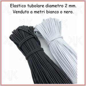 Elastico-per-cucito-bianco-nero-tondo-tubolare-cordoncino-mascherine-da-2-mm