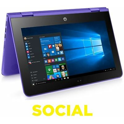 "HP Stream x360 11.6"" 2 in 1 32GB eMMC 2GB RAM Windows 10 Violet Purple"