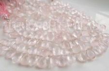 """4"""" strand AAA ROSE QUARTZ faceted gem stone pear briolette beads 10mm - 12mm"""
