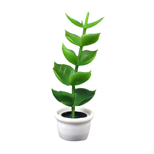 1:12 miniature green plant pot dollhouse garden accessory for kids doll gifts Bj