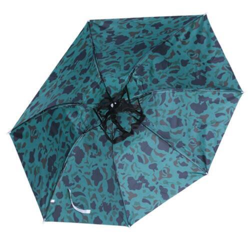 Foldable Outdoor Camping Head Umbrella Anti-Rain Fishing Anti-Sun Umbrella Hat