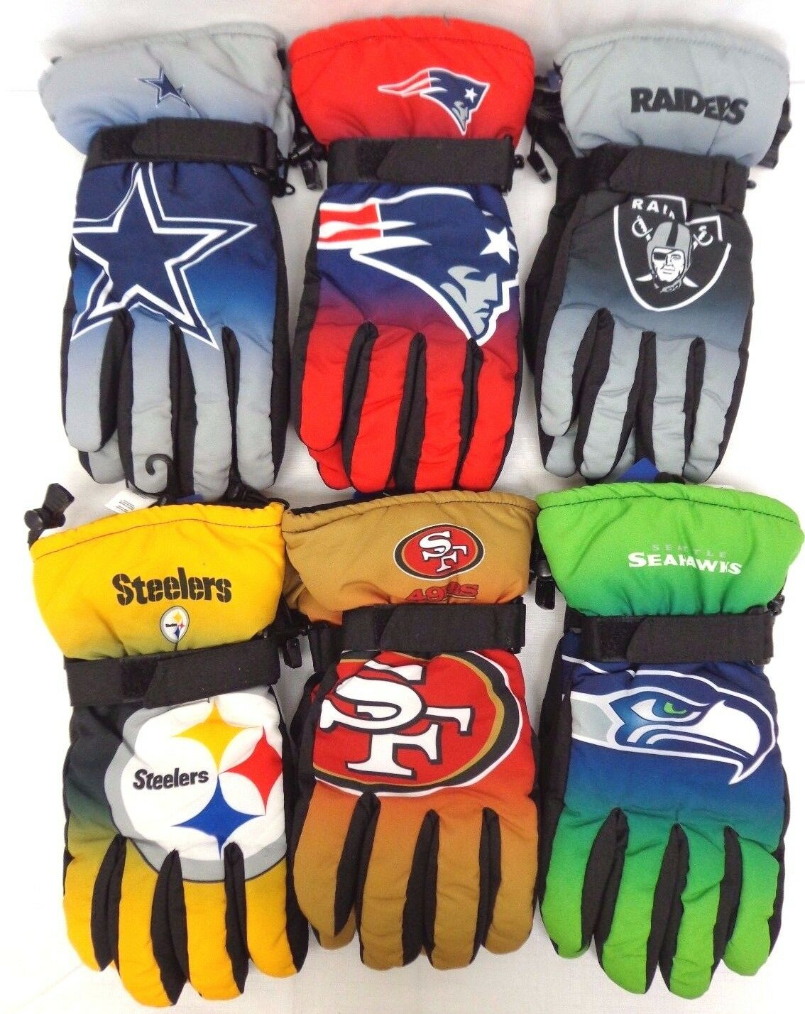 NFL Winter Big Logo Gradient Insulated Gloves Forever Collectibles FOCO