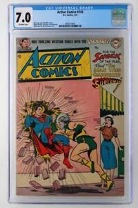 Action-Comics-165-CGC-7-0-FN-VF-DC-1952-Superman-2nd-HIGHEST-GRADE