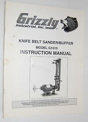 Inc Knife Belt Sander/buffer G1015 Instruction Manual Reasonable Grizzly Industrial