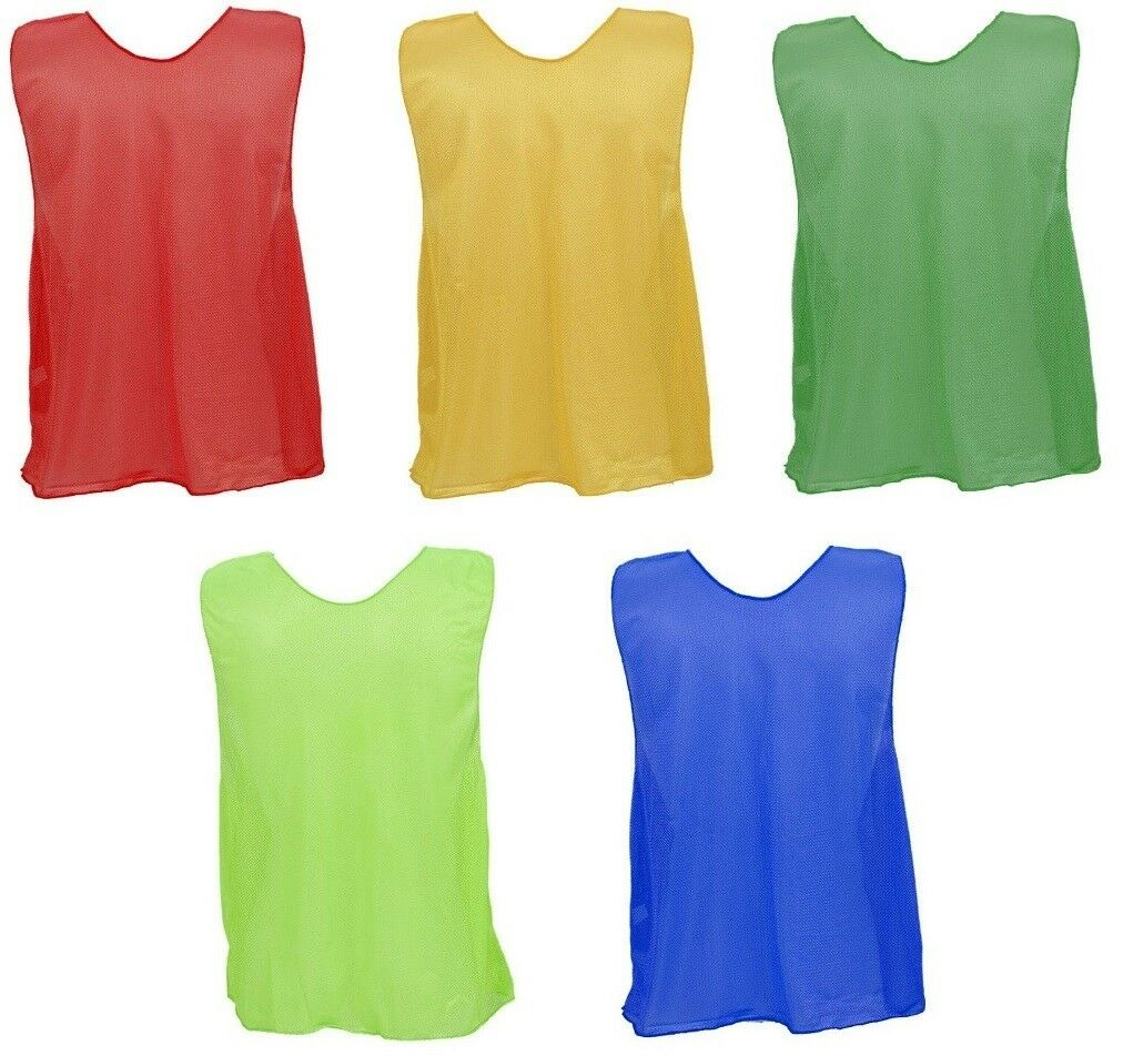Champion Sports Dozen (12) Micro Mesh, Long YOUTH Sports Scrimmage Vests Pinnies